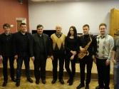 Saksofonista Oskara Petrauska meistarklases [23.02.2016.]